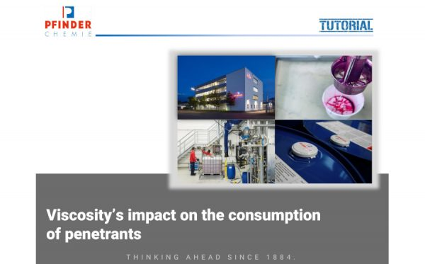 Viscosity's impact on the consumption of penetrants
