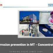 Corrosion prevention in MT-concentrates